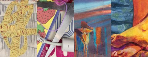 Four abstract images next to one another