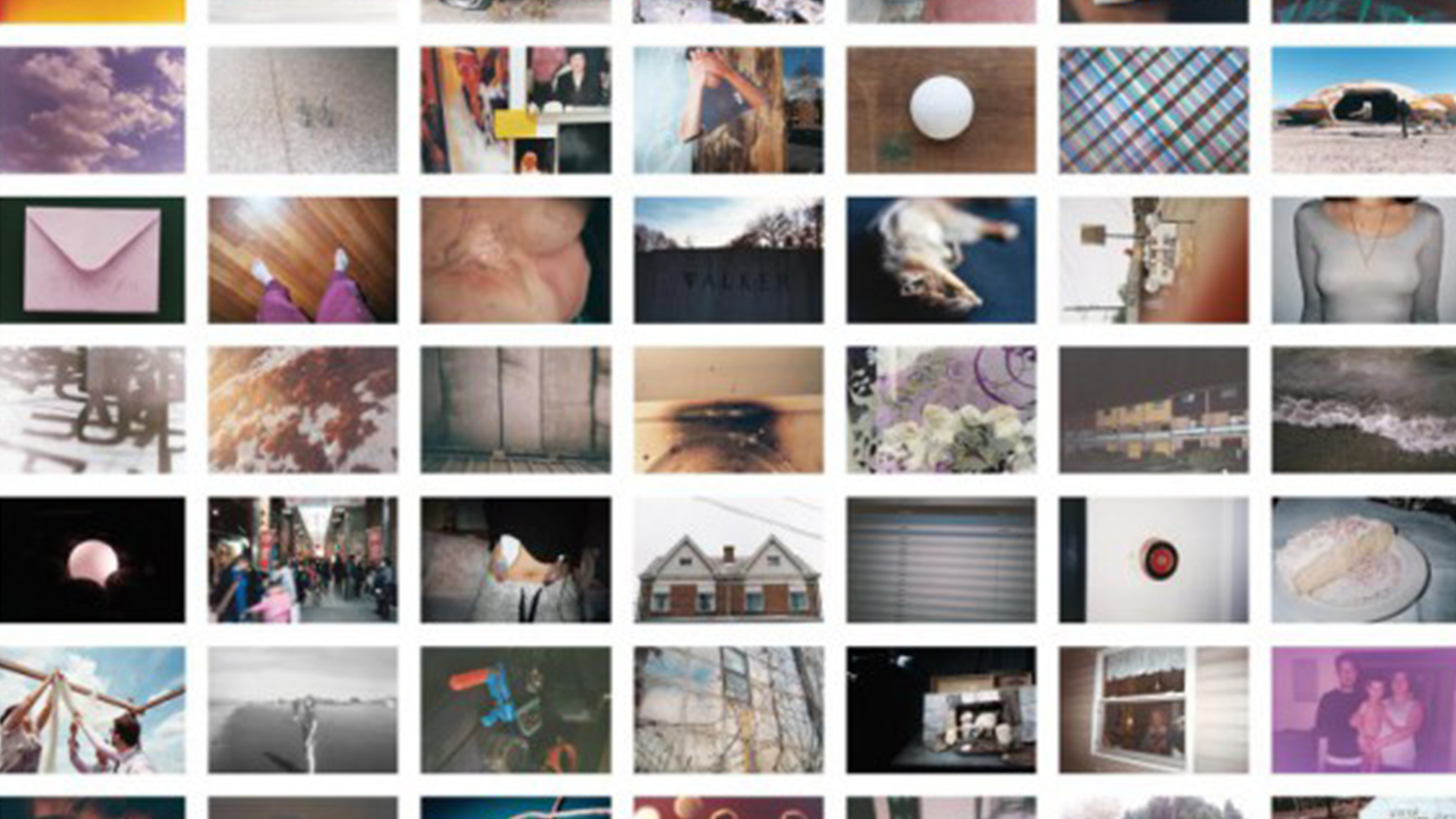 Montage of many snapshot photographs