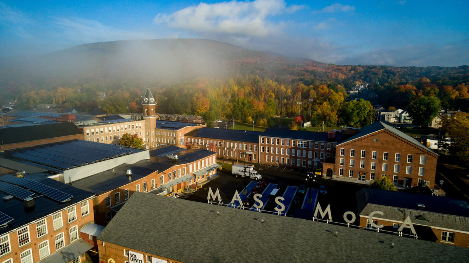 Aerial view of the Mass MoCA campus