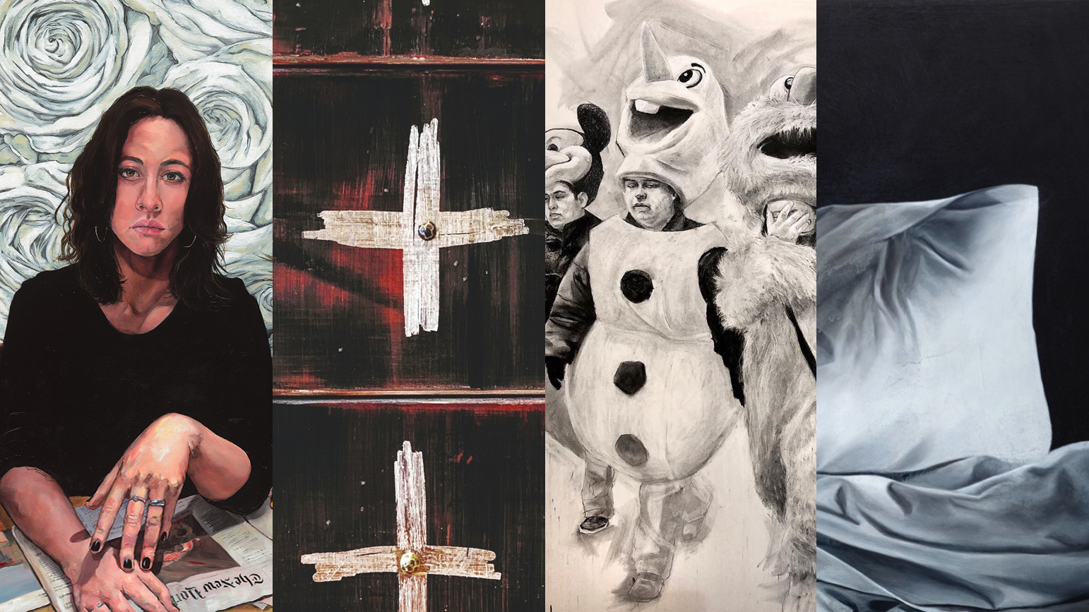 Four images of artwork