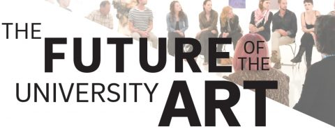 """Graphic with the text """"The Future of the University Art Gallery"""""""