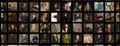 Grid of portraits in the National Gallery of Art collection